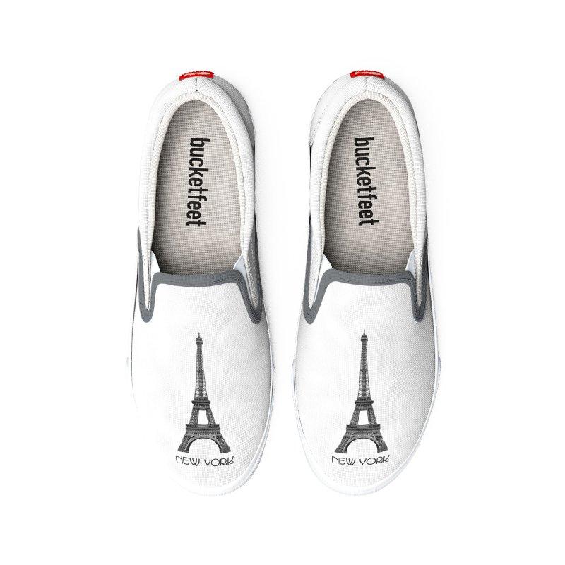 New York Eiffel Tower Women's Shoes by MaroDek's Artist Shop