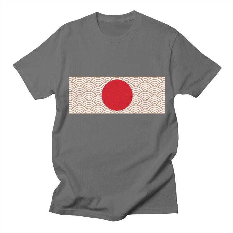 Ornamented Japanese Flag Men's T-Shirt by MaroDek's Artist Shop