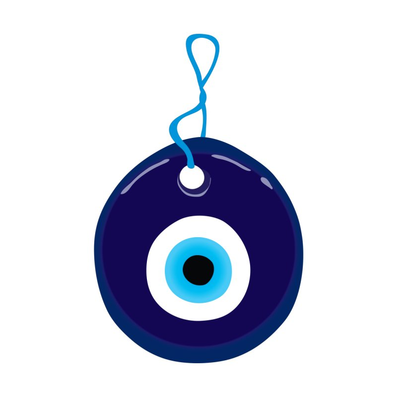 Blue Evil Eye Bead Men's T-Shirt by MaroDek's Artist Shop