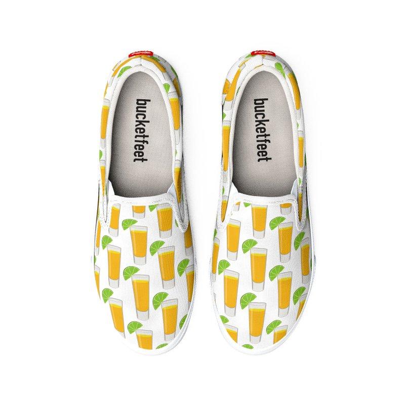 Tequila Shot Pattern Men's Shoes by MaroDek's Artist Shop
