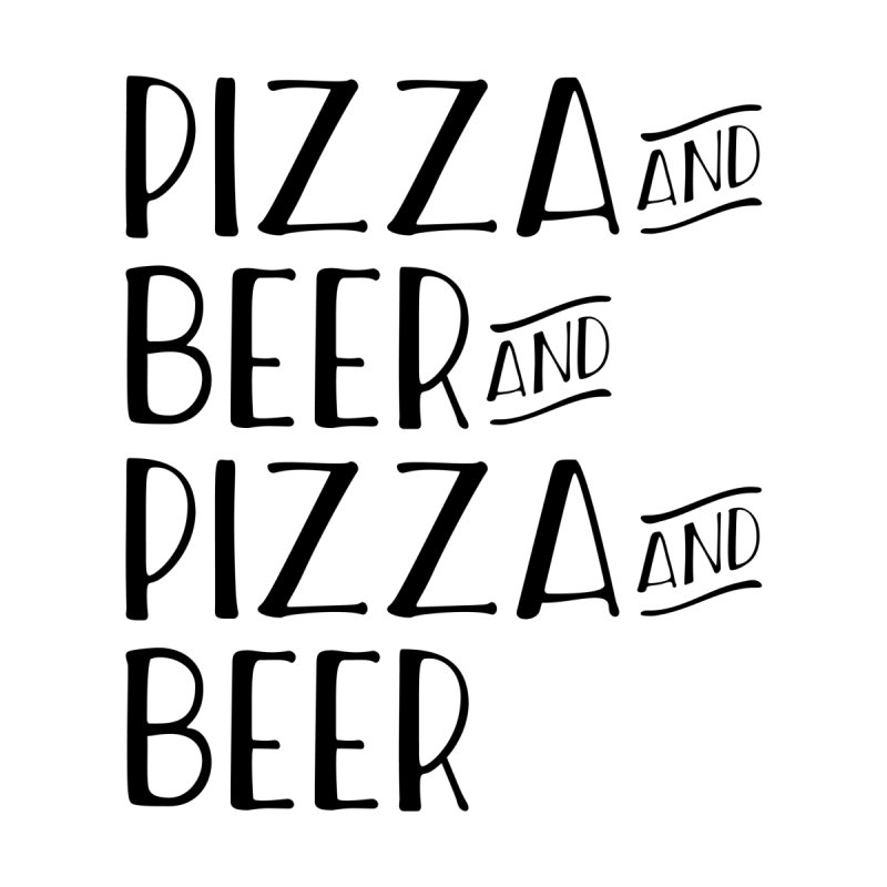 Pizza and Beer Men's T-Shirt by MaroDek's Artist Shop