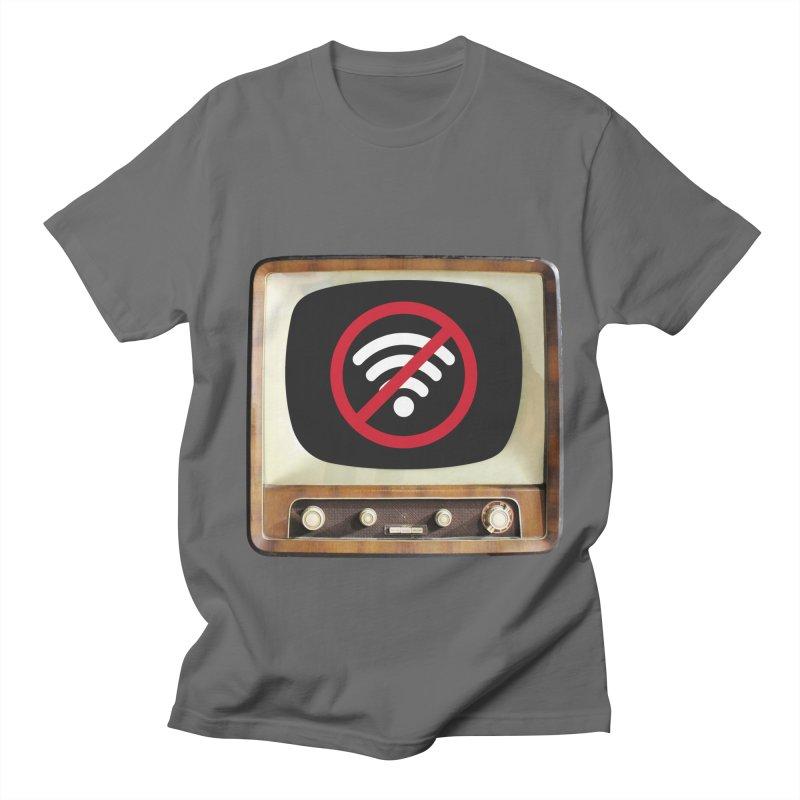 Vintage TV No Signal Men's T-Shirt by MaroDek's Artist Shop