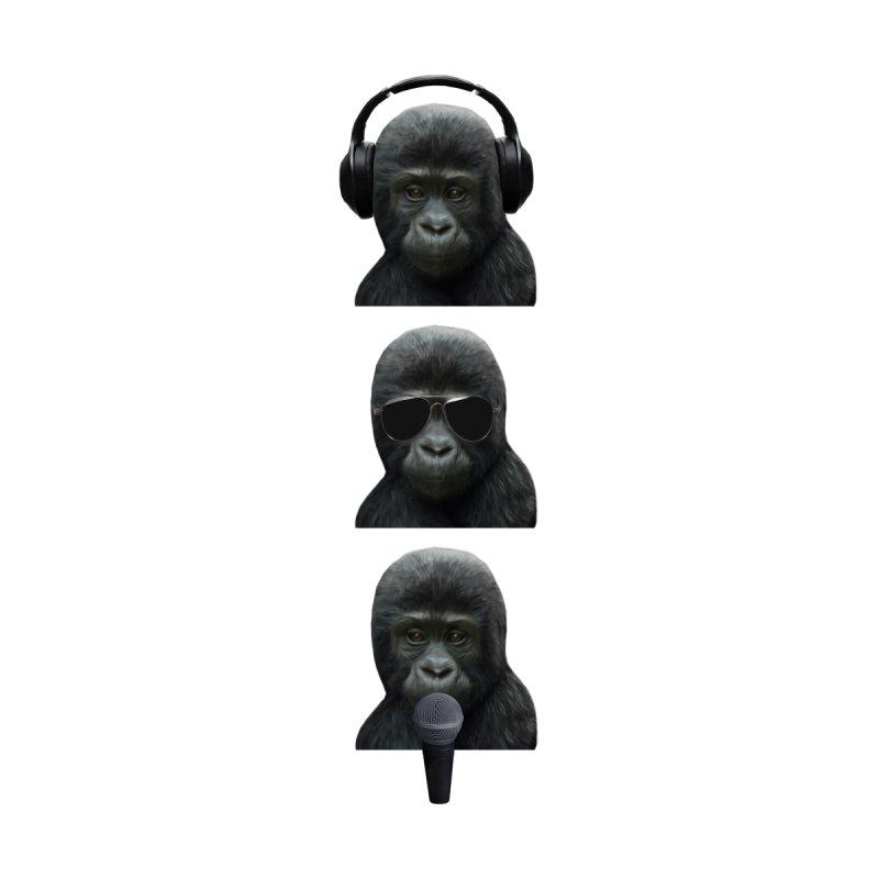 3 Wise Music Monkeys Men's T-Shirt by MaroDek's Artist Shop