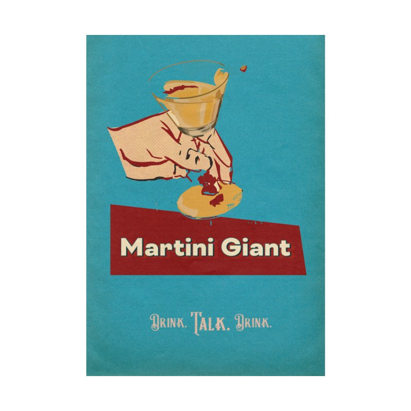 """MG ICON PRINT - """"Host Print Blue"""" Home Fine Art Print by Martini Giant's Store"""