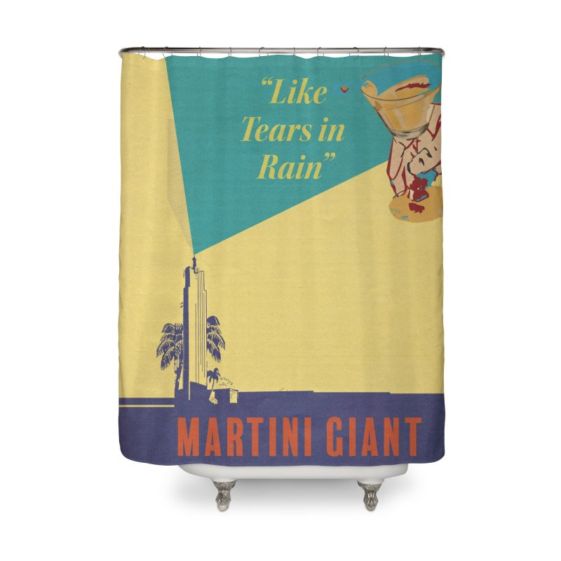 MG ICONS Curtain Home Shower Curtain by Martini Giant's Store
