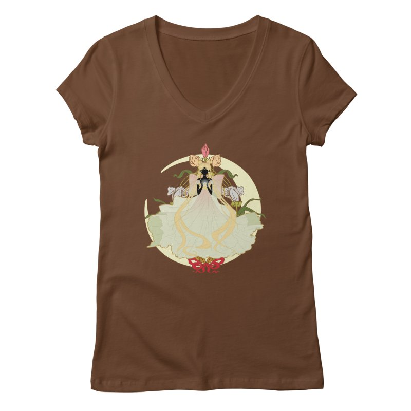 Serenity Nouveau Women's V-Neck by MaruDashi's Artist Shop
