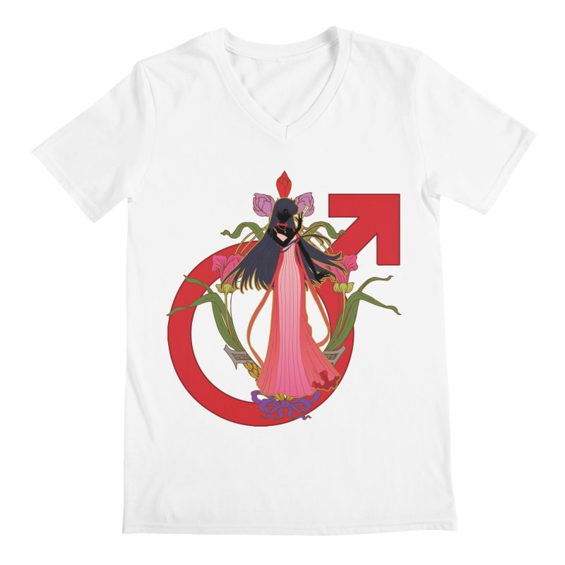Princess Mars Men's V-Neck by MaruDashi's Artist Shop