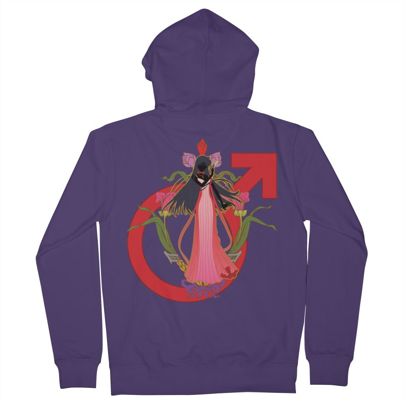 Princess Mars Women's French Terry Zip-Up Hoody by MaruDashi's Artist Shop