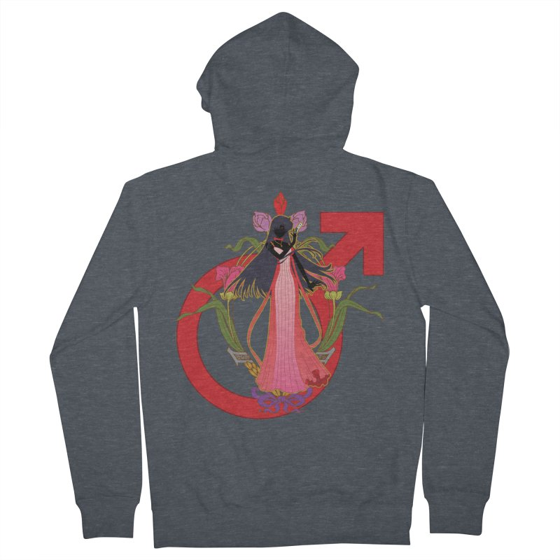 Princess Mars Men's French Terry Zip-Up Hoody by MaruDashi's Artist Shop