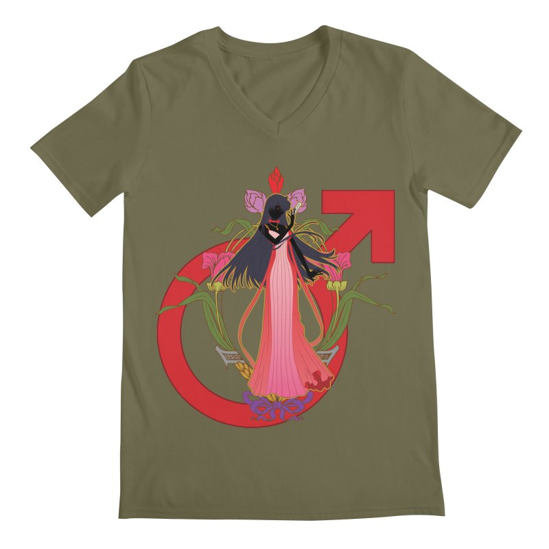 Princess Mars Men's Regular V-Neck by MaruDashi's Artist Shop
