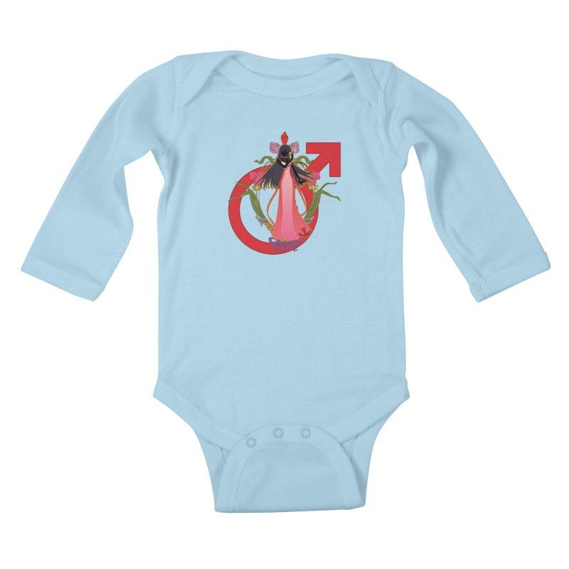 Princess Mars Kids Baby Longsleeve Bodysuit by MaruDashi's Artist Shop