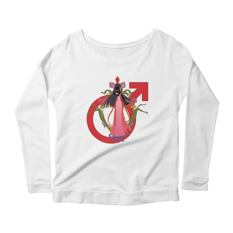 Princess Mars Women's Scoop Neck Longsleeve T-Shirt by MaruDashi's Artist Shop
