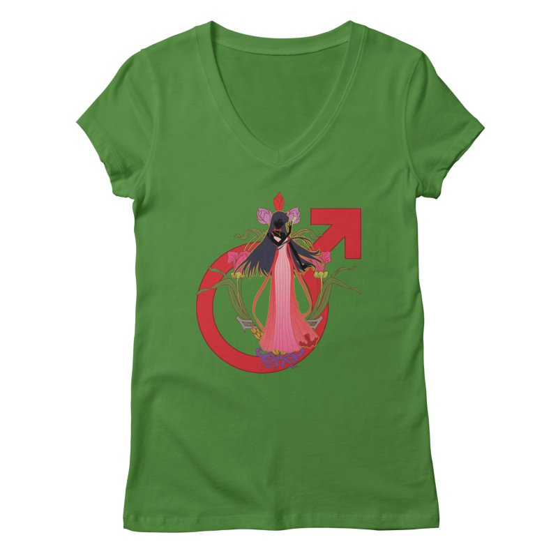 Princess Mars Women's V-Neck by MaruDashi's Artist Shop