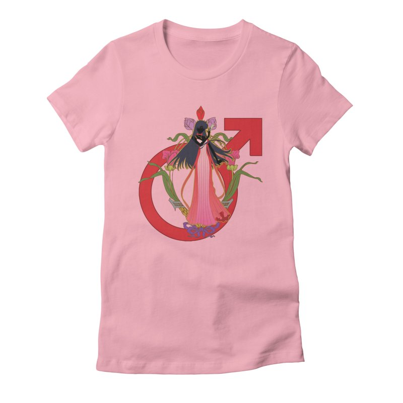 Princess Mars Women's Fitted T-Shirt by MaruDashi's Artist Shop