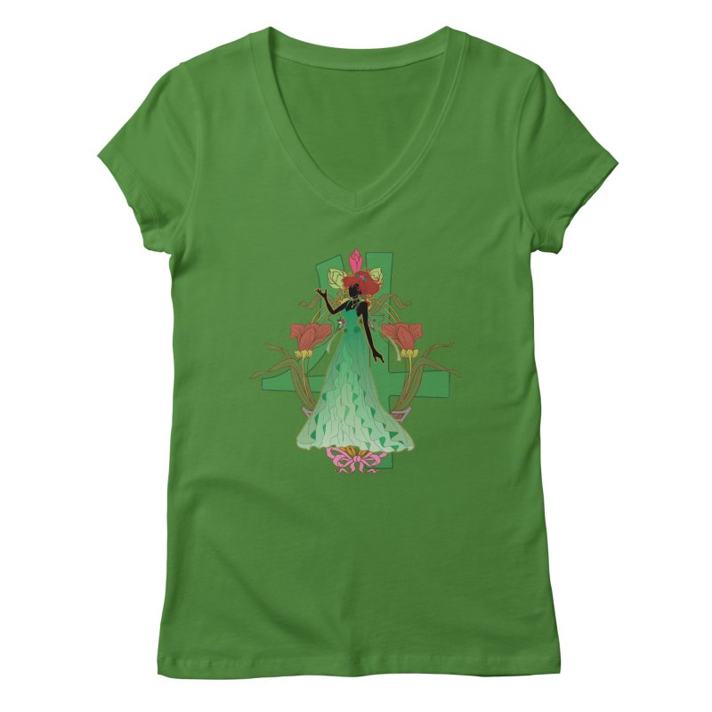 Princess Jupiter Women's Regular V-Neck by MaruDashi's Artist Shop