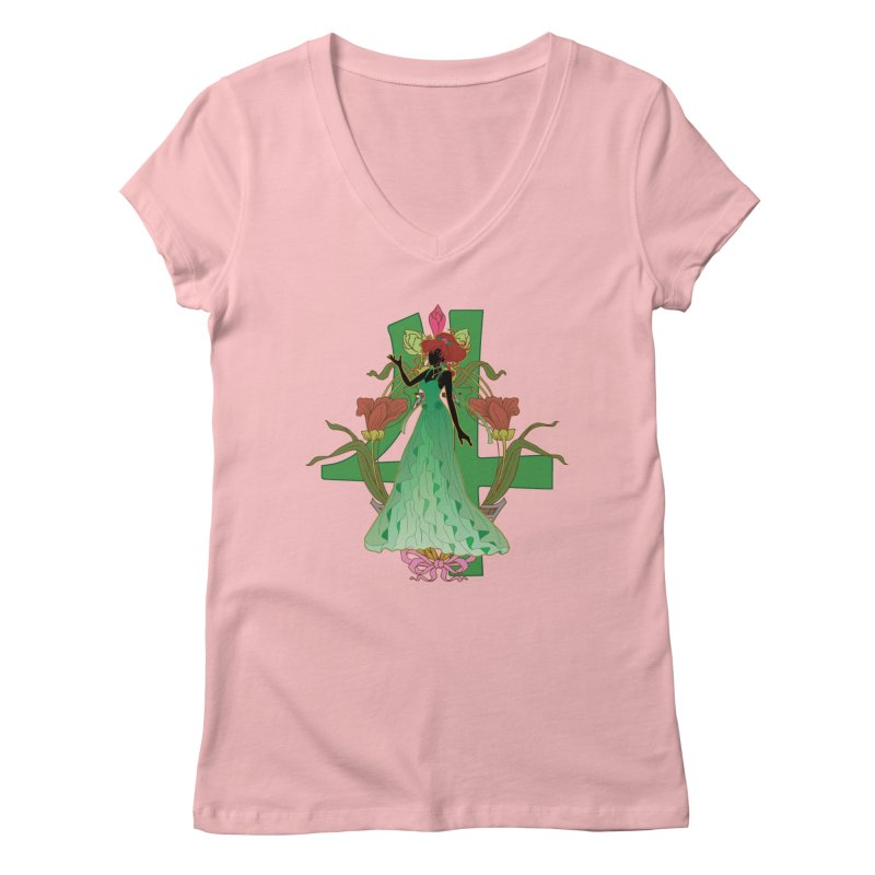 Princess Jupiter Women's V-Neck by MaruDashi's Artist Shop