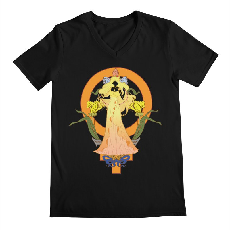 Princess Venus Men's V-Neck by MaruDashi's Artist Shop