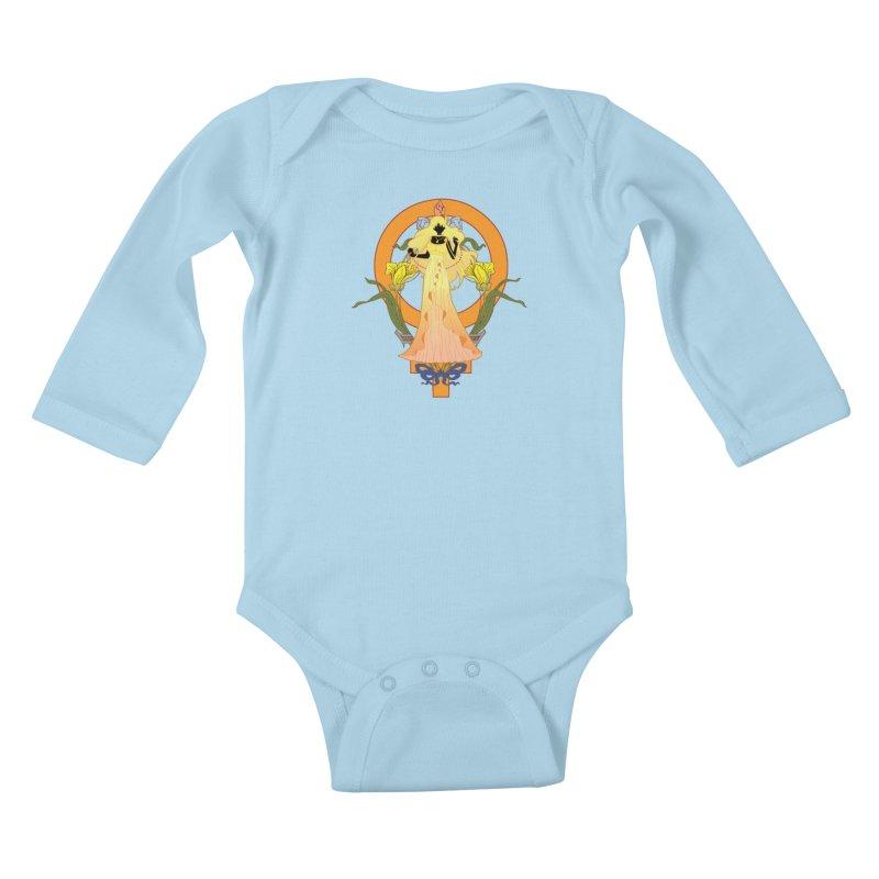 Princess Venus Kids Baby Longsleeve Bodysuit by MaruDashi's Artist Shop