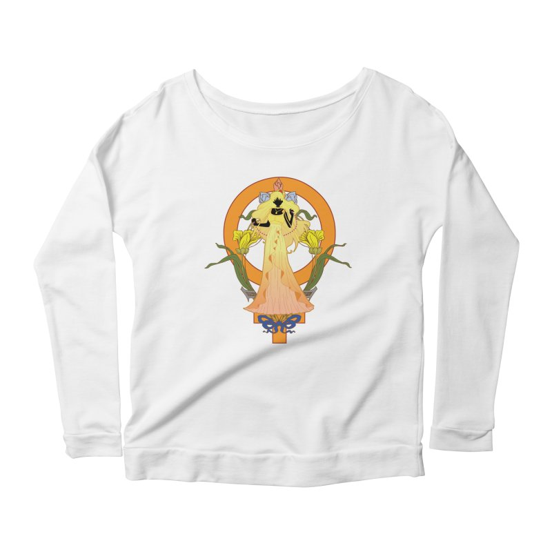Princess Venus Women's Scoop Neck Longsleeve T-Shirt by MaruDashi's Artist Shop