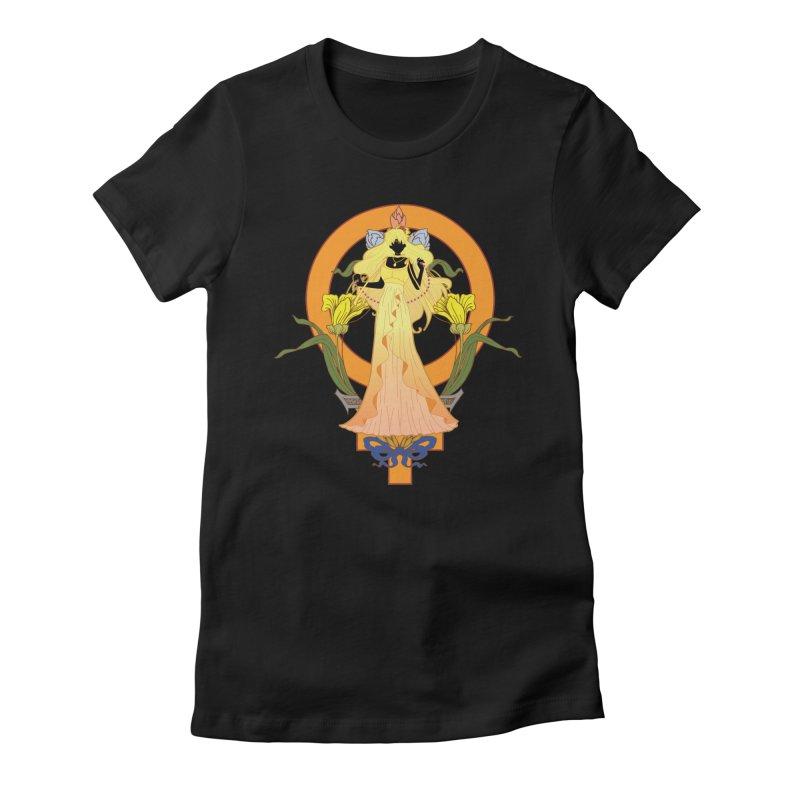 Princess Venus Women's Fitted T-Shirt by MaruDashi's Artist Shop
