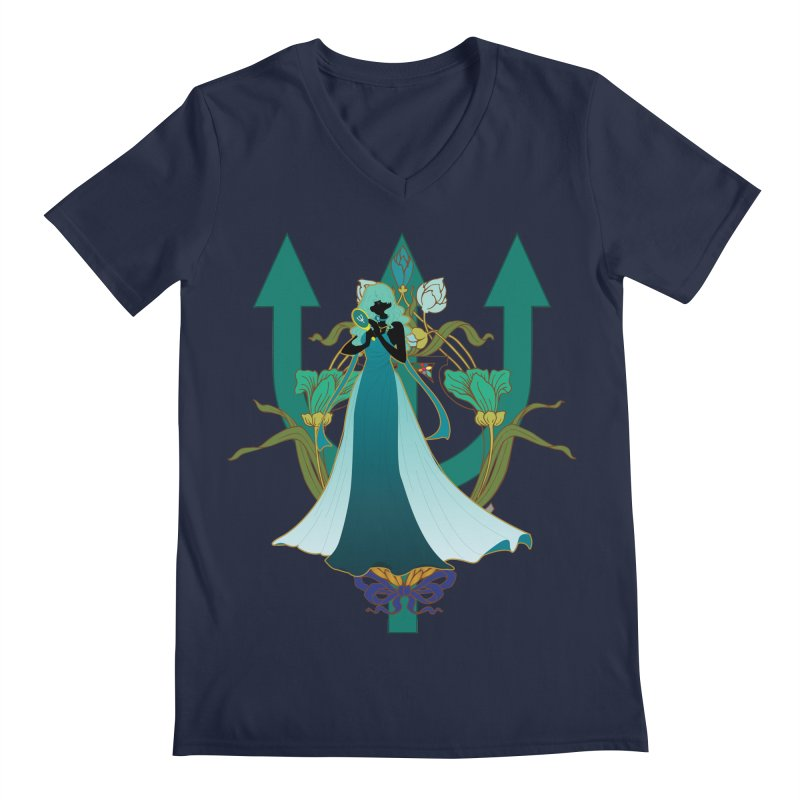 Princess Neptune Men's Regular V-Neck by MaruDashi's Artist Shop