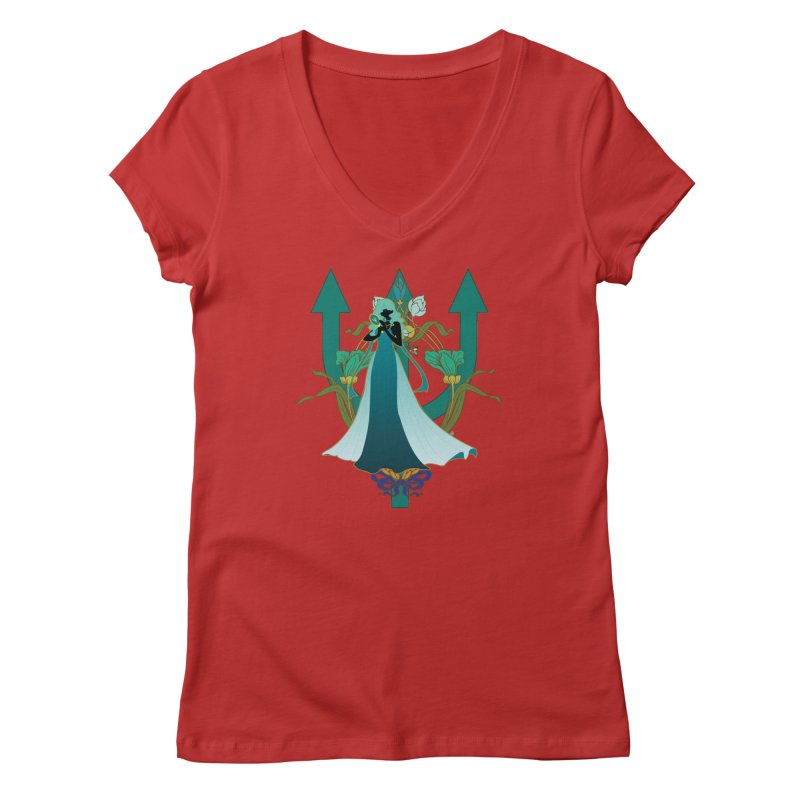 Princess Neptune Women's V-Neck by MaruDashi's Artist Shop