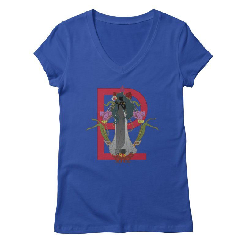 Princess Pluto Women's V-Neck by MaruDashi's Artist Shop