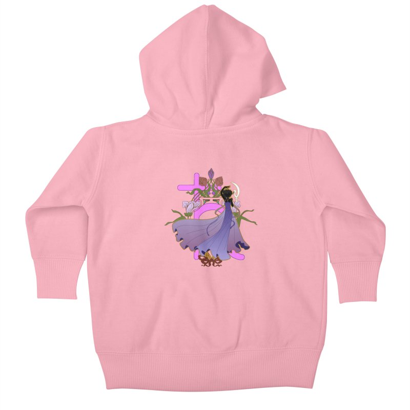 Princess Saturn Kids Baby Zip-Up Hoody by MaruDashi's Artist Shop