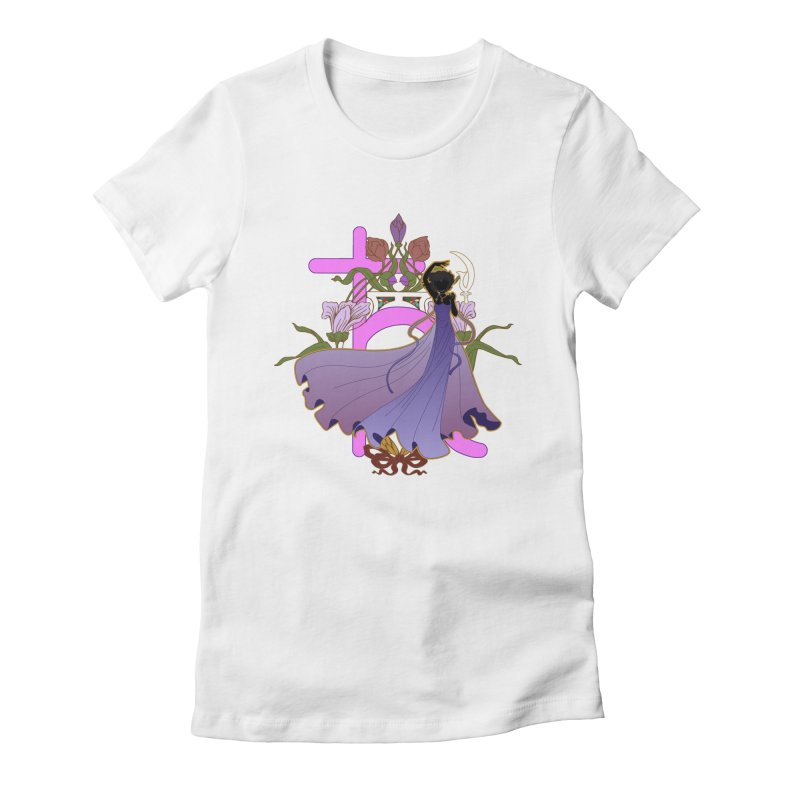 Princess Saturn Women's Fitted T-Shirt by MaruDashi's Artist Shop