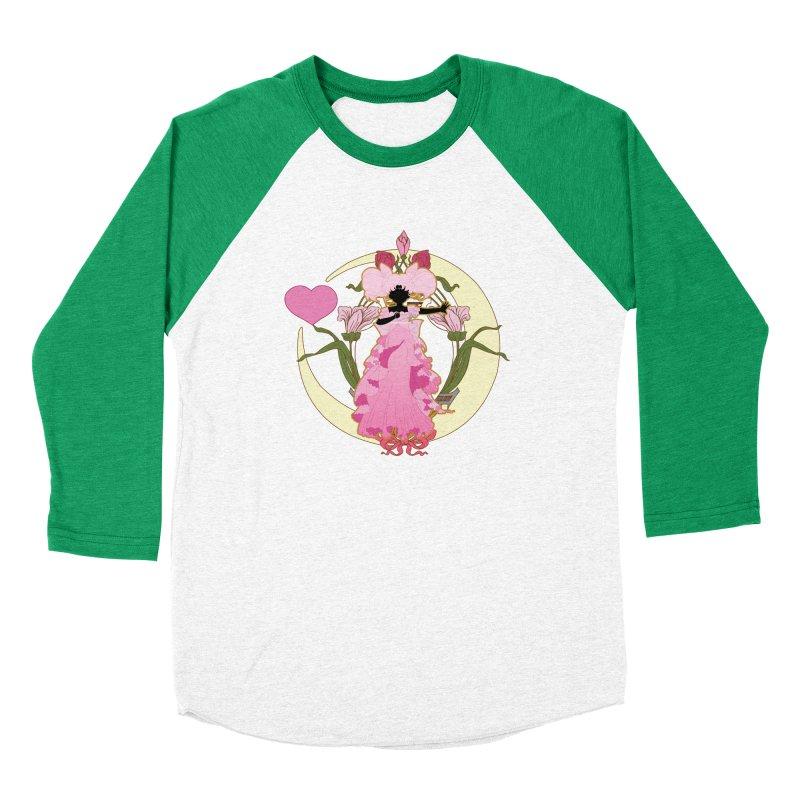 Small Lady Women's Baseball Triblend Longsleeve T-Shirt by MaruDashi's Artist Shop
