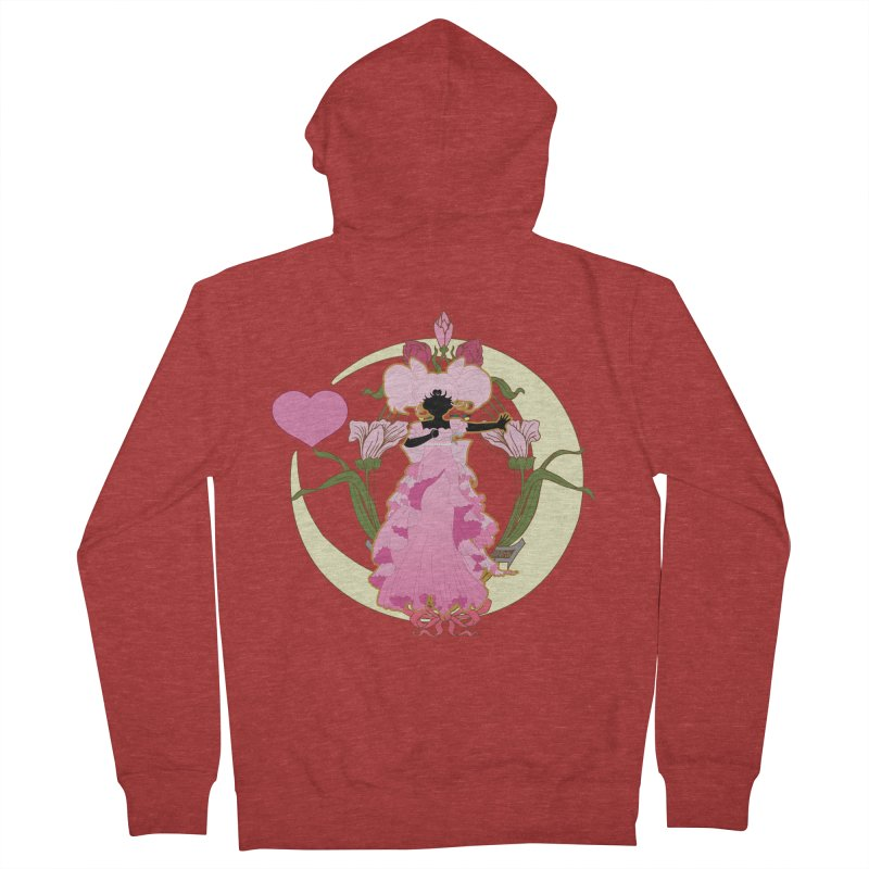 Small Lady Women's French Terry Zip-Up Hoody by MaruDashi's Artist Shop