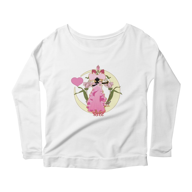 Small Lady Women's Scoop Neck Longsleeve T-Shirt by MaruDashi's Artist Shop