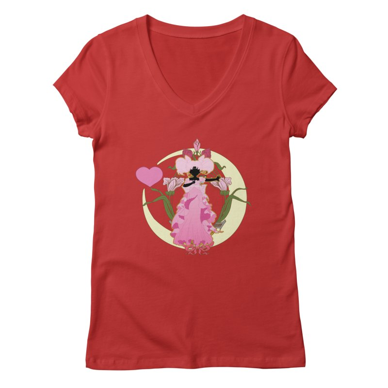 Small Lady Women's V-Neck by MaruDashi's Artist Shop