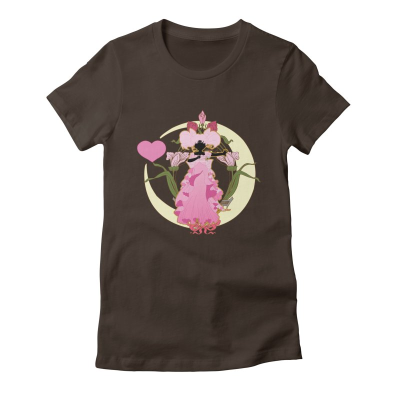 Small Lady Women's Fitted T-Shirt by MaruDashi's Artist Shop