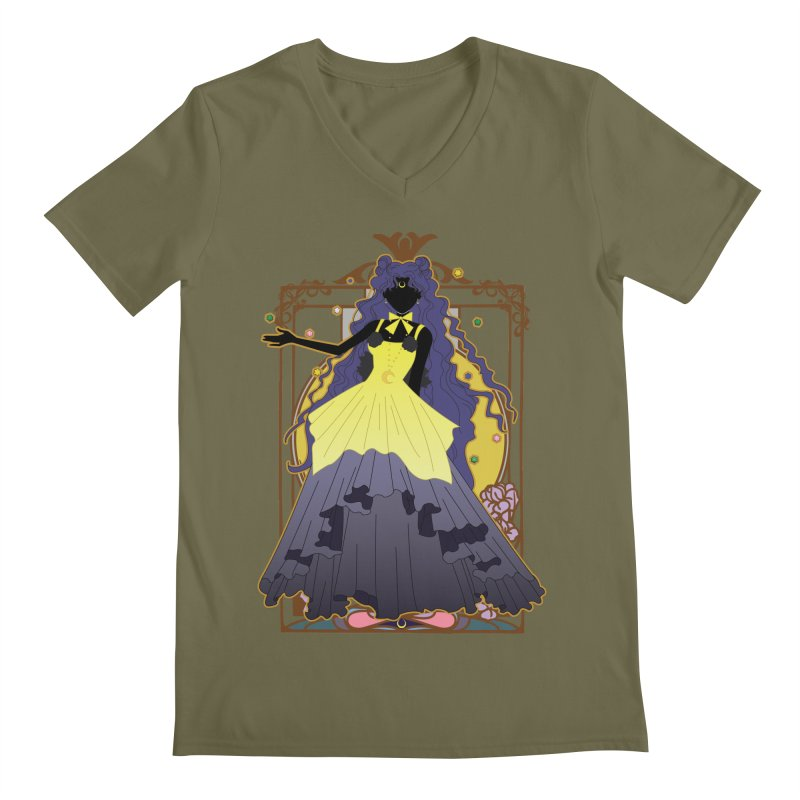 Luna Men's V-Neck by MaruDashi's Artist Shop