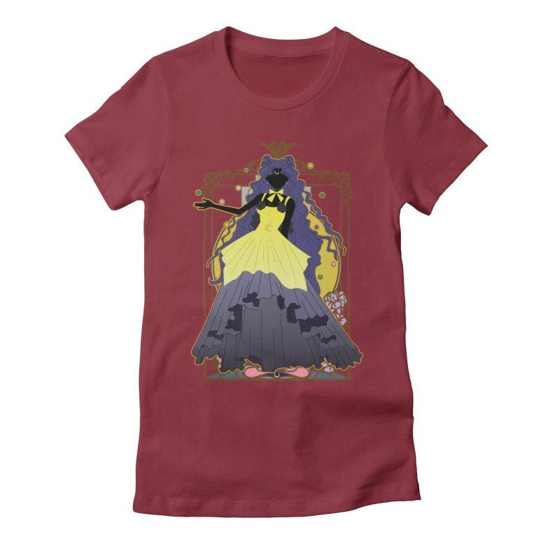 Luna Women's Fitted T-Shirt by MaruDashi's Artist Shop