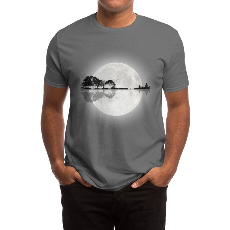 Moonlight Nature Guitar Men's T-Shirt by Maryedenoa's Artist Shop