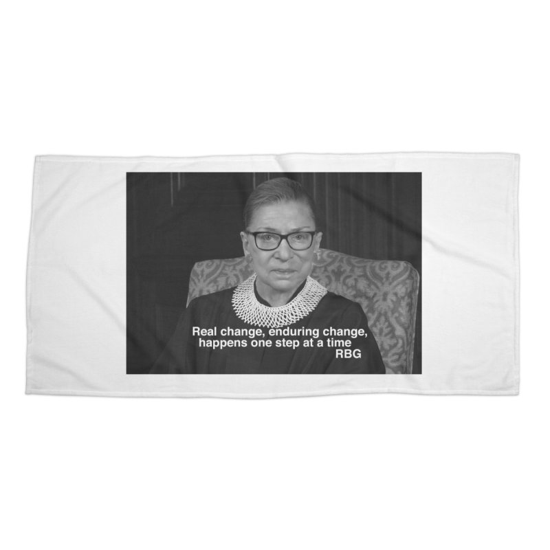 Honoring Ruth Bader Ginsburg Accessories Beach Towel by Maryheartworks's Artist Shop