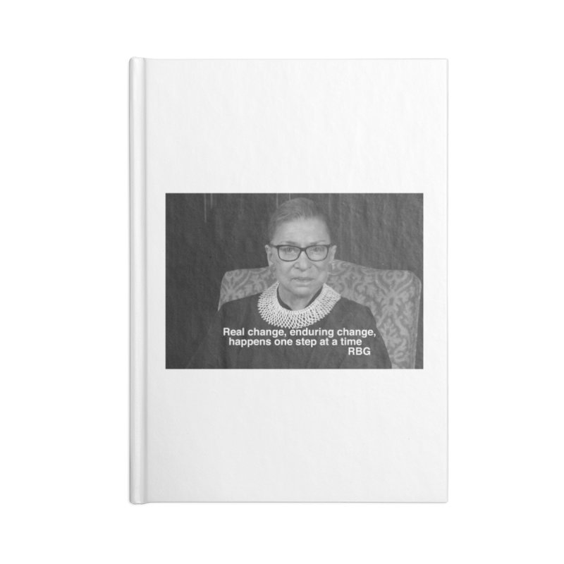 Honoring Ruth Bader Ginsburg Accessories Notebook by Maryheartworks's Artist Shop