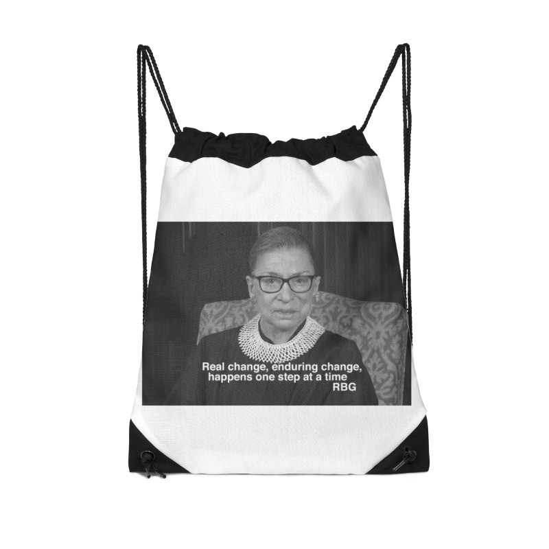 Honoring Ruth Bader Ginsburg Accessories Bag by Maryheartworks's Artist Shop