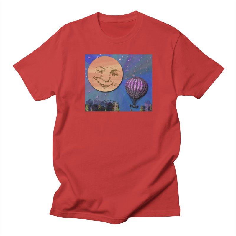 Flight To Paris Men's Regular T-Shirt by Maryheartworks's Artist Shop