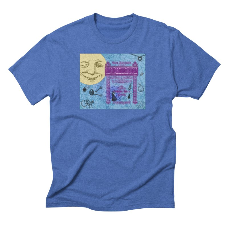 The Fortune Teller in Men's Triblend T-Shirt Blue Triblend by Maryheartworks's Artist Shop