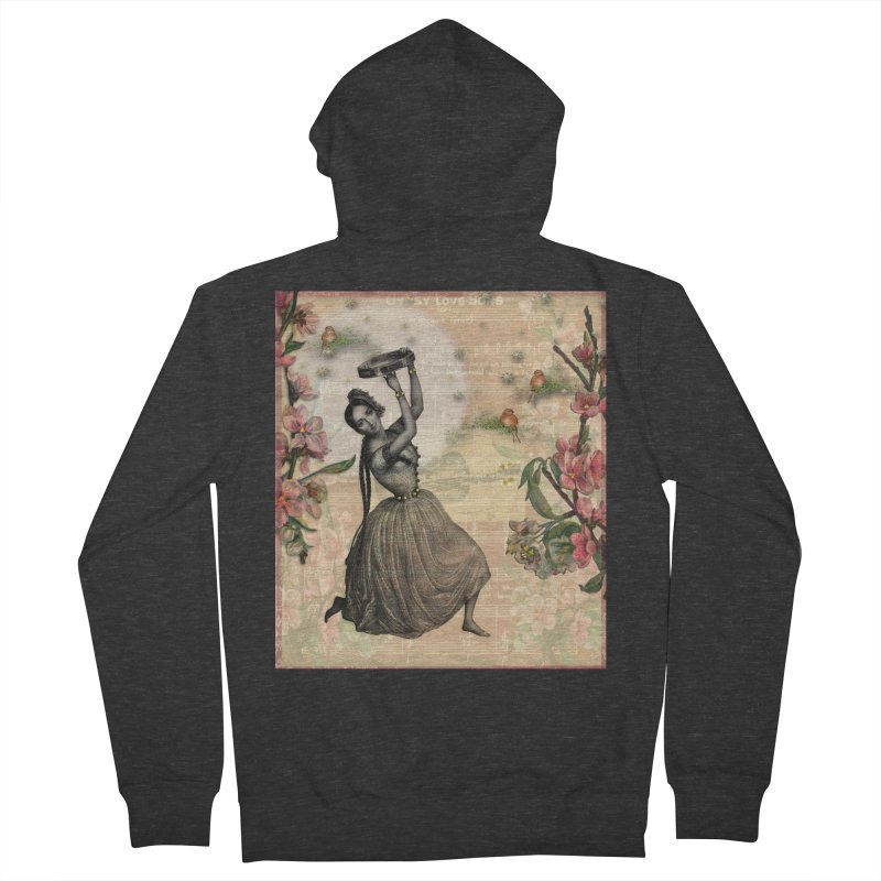 Gypsy Love Song Women's French Terry Zip-Up Hoody by Maryheartworks's Artist Shop