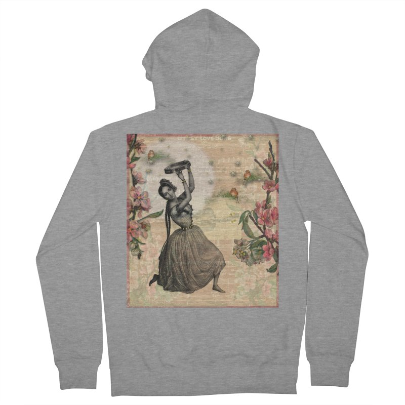 Gypsy Love Song Men's French Terry Zip-Up Hoody by Maryheartworks's Artist Shop