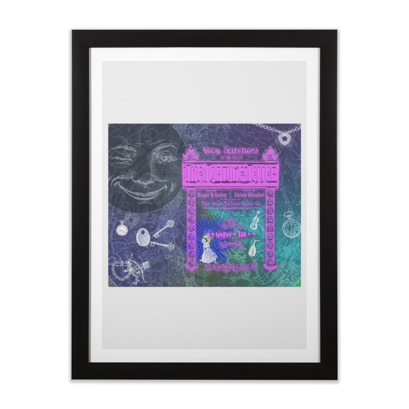 The Fortune Teller in Framed Fine Art Print Black by Maryheartworks's Artist Shop