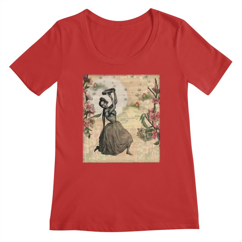 Gypsy Love Song Women's Regular Scoop Neck by Maryheartworks's Artist Shop