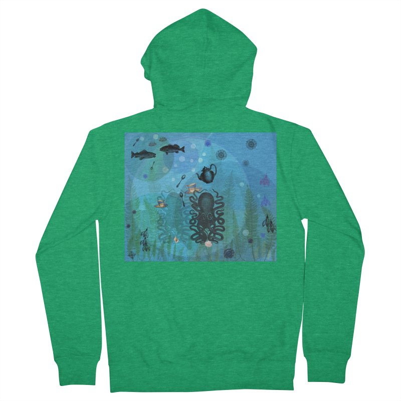 Under The Sea In Time For Tea Women's French Terry Zip-Up Hoody by Maryheartworks's Artist Shop