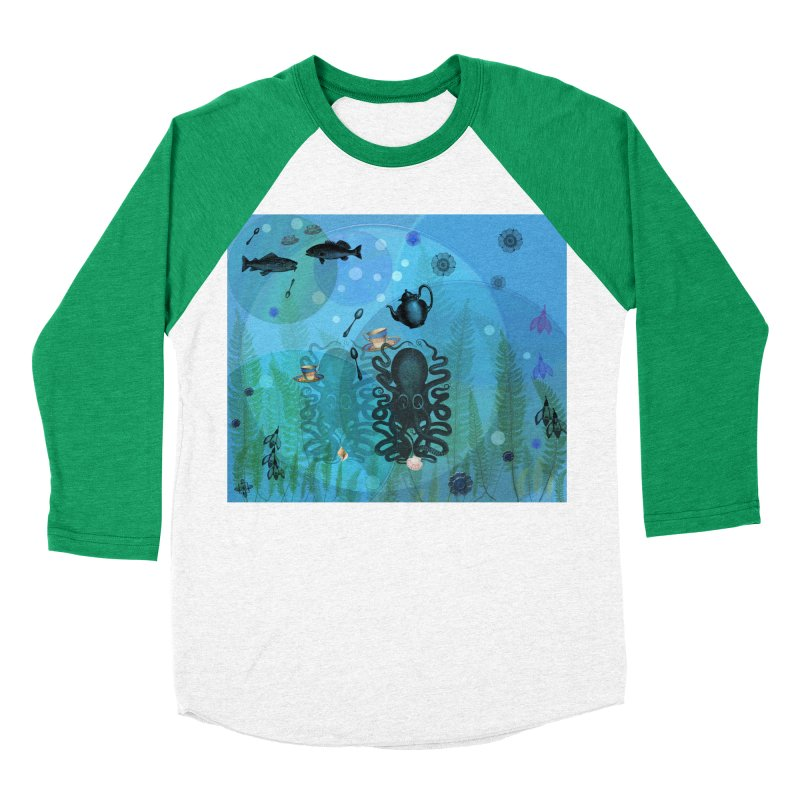 Under The Sea In Time For Tea Women's Baseball Triblend Longsleeve T-Shirt by Maryheartworks's Artist Shop