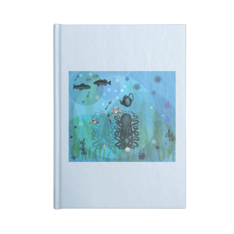 Under The Sea In Time For Tea Accessories Blank Journal Notebook by Maryheartworks's Artist Shop