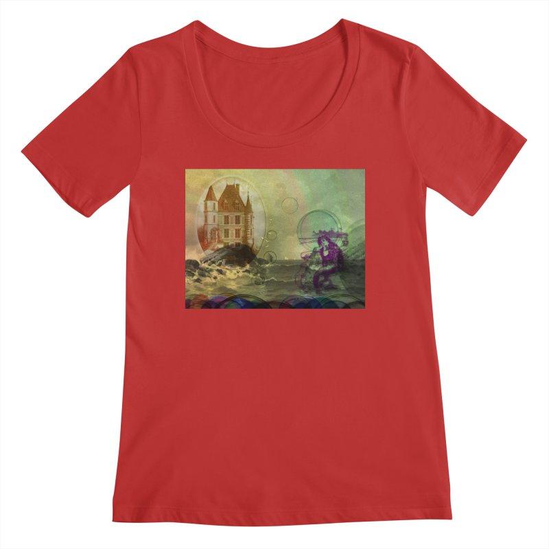 Mermaid's Dream Women's Regular Scoop Neck by Maryheartworks's Artist Shop
